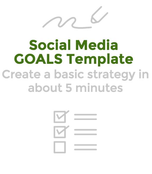 social media goals template