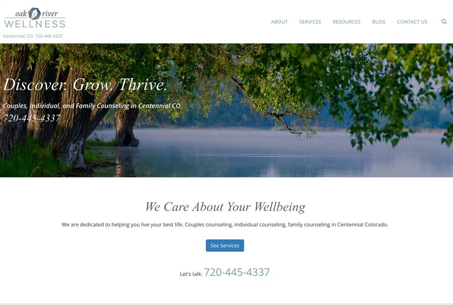 web design for psychotherapy practice
