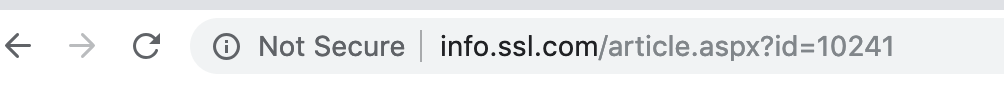SSL missing not secure