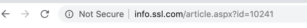 SSL missing not secure