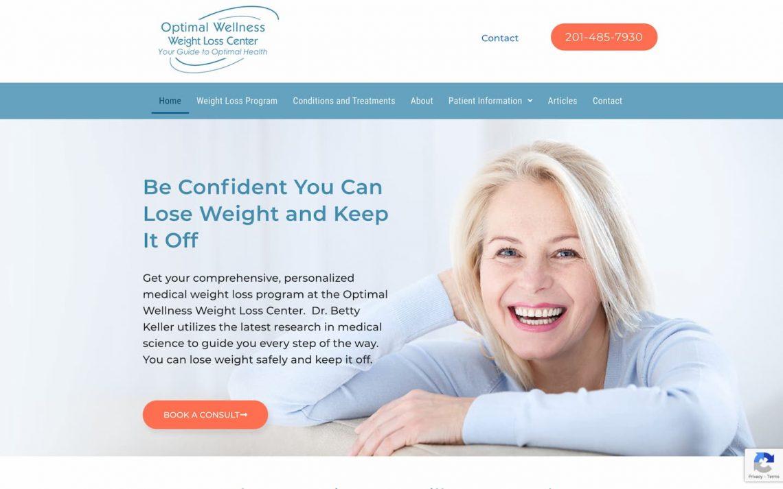 Medical weight loss center web design